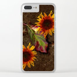 Sunflowers Vintage # Clear iPhone Case
