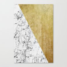 Marble vs GOld Canvas Print