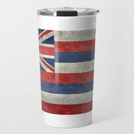 Flag of Hawaii, Retro Vintage Travel Mug