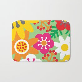 Summer Floral Bath Mat