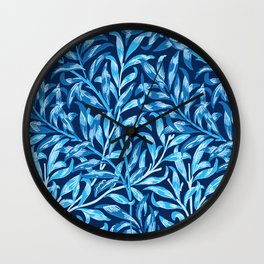 William Morris Willow Bough, Cobalt and Navy Blue Wall Clock