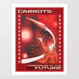 Future Carrot Art Print