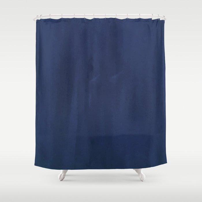 Indigo Velvet Shower Curtain