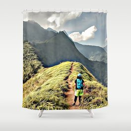 Starring the future Shower Curtain