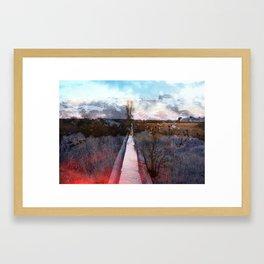 A Layered Landscape Framed Art Print