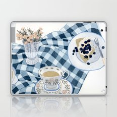 Still life with blueberry pie Laptop & iPad Skin