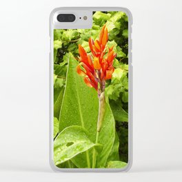 Floral Print 044 Clear iPhone Case