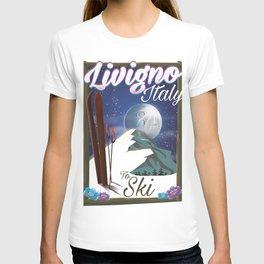 Livigno Italian ski travel poster T-shirt