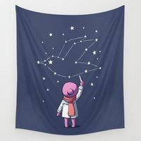 constellation Wall Tapestries featuring Constellation by Freeminds