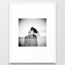 Apparition - Holga Double Exposure Framed Art Print