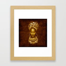 Afrofuturist style Framed Art Print
