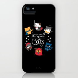Dungeons And Cats iPhone Case