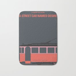 No397 My street car named desire minimal movie poster Bath Mat