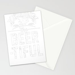 AMERICA THE BEER-TIFUL T-SHIRT Stationery Cards