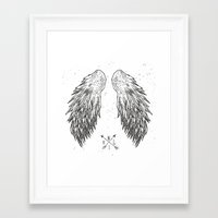 wings Framed Art Prints featuring wings by Julia