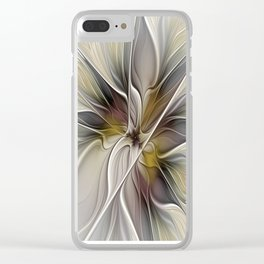 Floral Abstract, Fractal Art Clear iPhone Case
