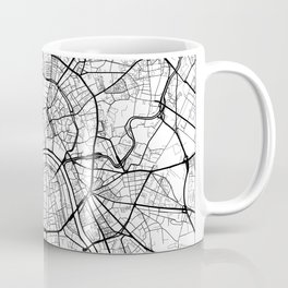 Moscow Map White Coffee Mug