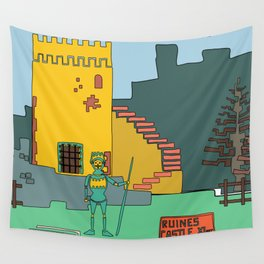 Afternoon at the Medieval Age (a) Wall Tapestry