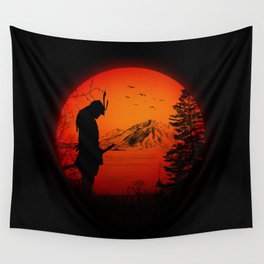 My Love Japan / Samurai warrior Wall Tapestry