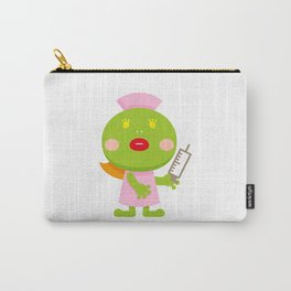Frog blonde nurse and syringe Carry-All Pouch