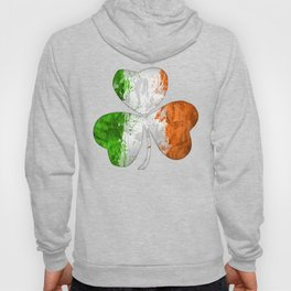 Irish Tricolour Shamrock Hoody