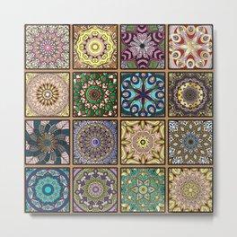 Colorful floral seamless pattern Metal Print