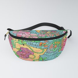 An Owl in Mourning Glory Fanny Pack