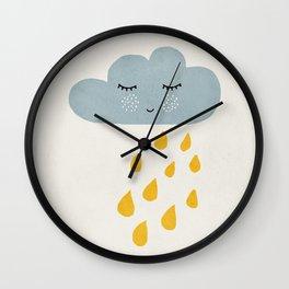 Cloud, Mid century modern kids wall art, Nursery room Wall Clock