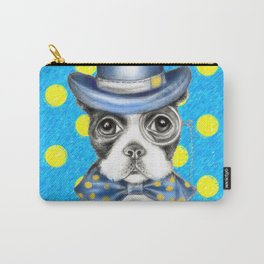 Boston Terrier Polka Dot Carry-All Pouch