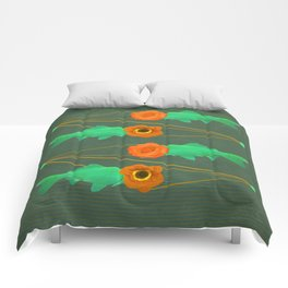 fishes and flowers color option Comforters