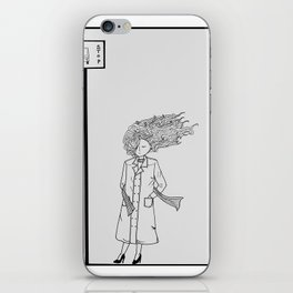 The girl in the windy city iPhone Skin
