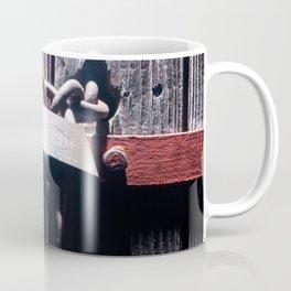 Lock on a heavy door Coffee Mug