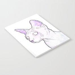 Hairless Cat (Purple) Notebook
