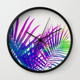 Colorful Palm Wall Clock