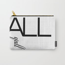 Typography Design Text 'All Y'all' Carry-All Pouch