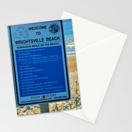Beach Rules Stationery Cards