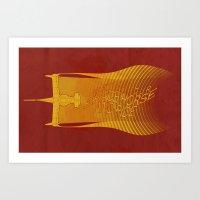 cowboy bebop Art Prints featuring Space Horse (Spikes Horse)Bebop)Cowboy)Swordfish) by Geekleetist