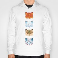 foxes Hoodies featuring Foxes by Kiteytetty