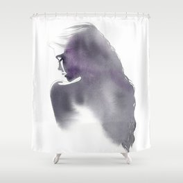 Dusk, Fashion Illustration in Watercolor Shower Curtain