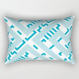 Artis 1.0, No.11 in Warm Blue Rectangular Pillow