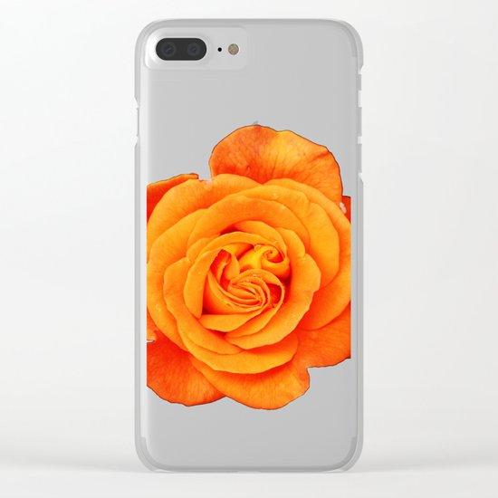 Romantic Rose Orange Clear iPhone Case