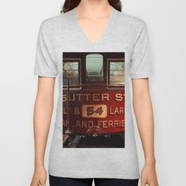 S.F. Cable Car Unisex V-Neck