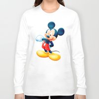 mickey Long Sleeve T-shirts featuring Mickey by loveme