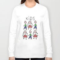 kids Long Sleeve T-shirts featuring Kids by Digital-Art