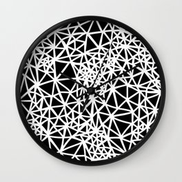 Glass Jewerly in black Wall Clock