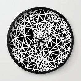 Glass Jewerly in black Wall Clock
