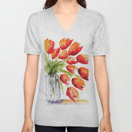 Tulips Overflowing Unisex V-Neck