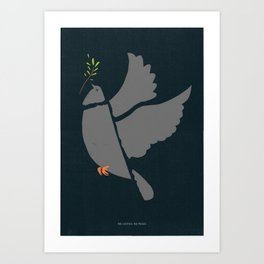 Broken Dove Art Print