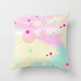 Pastel galaxy Throw Pillow
