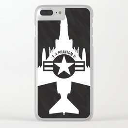 F-4 Phantom II Military Fighter Jet Airplane Clear iPhone Case